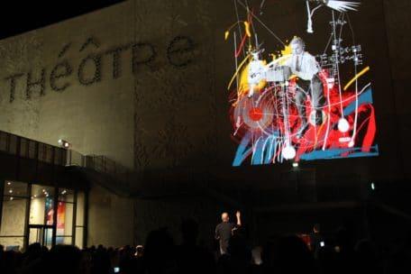 Une fresque digitale à l'inauguration du théâtre de Saint Nazaire