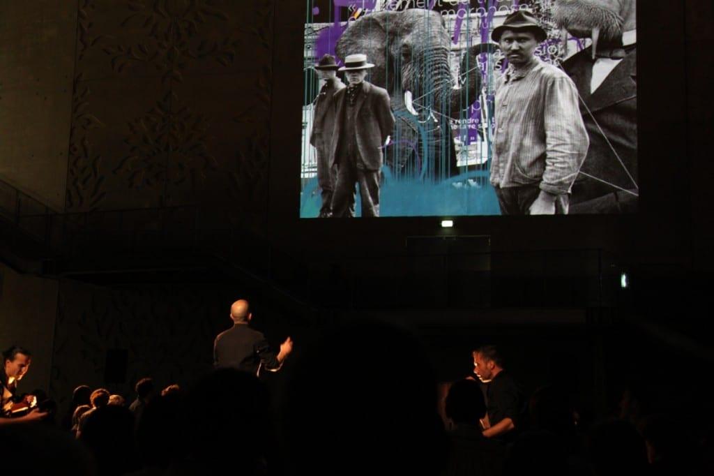 Fresque digitale pour l'inauguration du théâtre