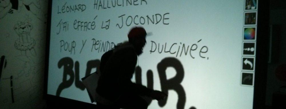 ecriture graffiti beaubourg