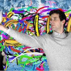 photocall graffiti sur fond vert