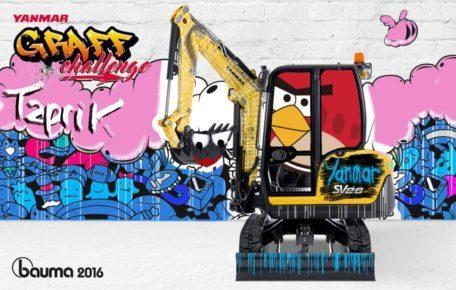 Le graffiti avec Picturae au salon Bauma 2016