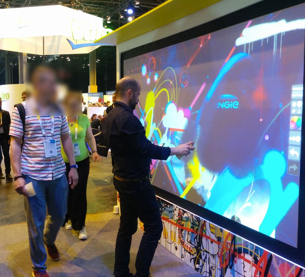 graffiti digital au Vivatech
