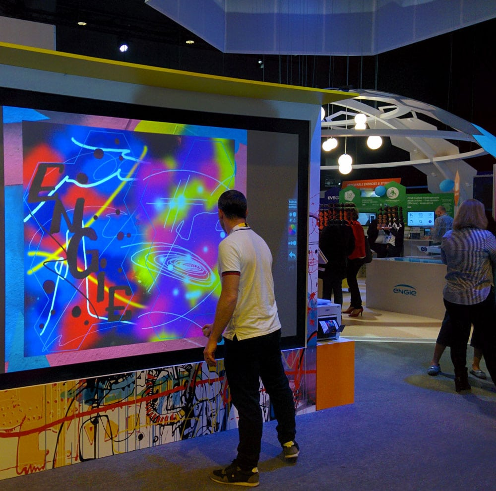 Graffiti interactif Vivatech