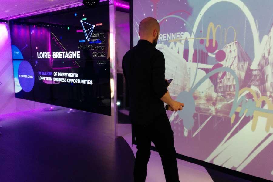 Animation digitale pour événement d'entreprise - graffiti numérique
