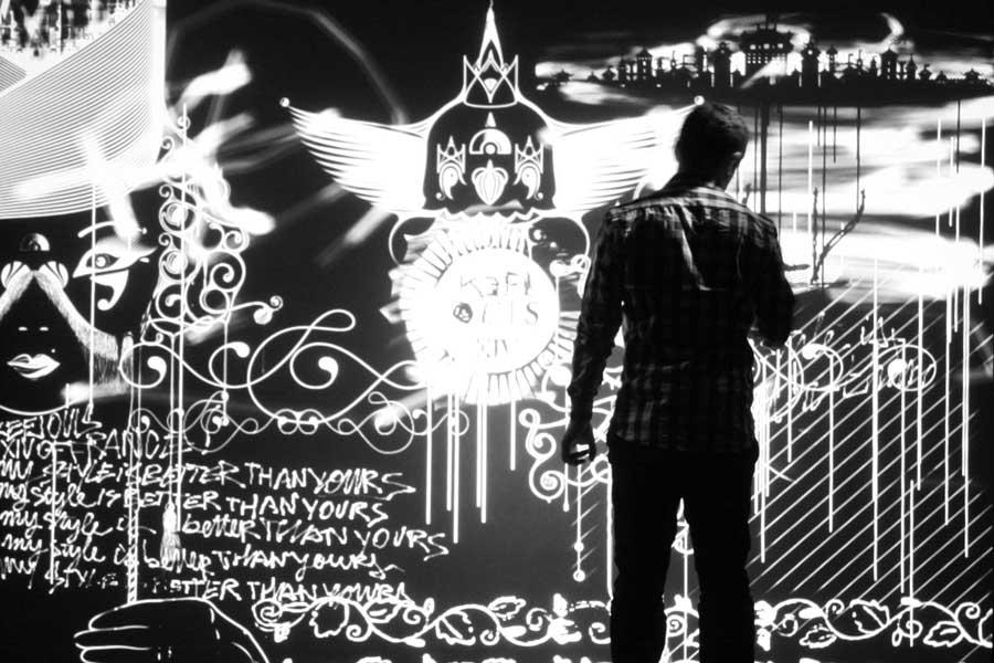 Animation digitale pour événement - graffiti numérique