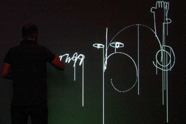 Animation digitale pour événement - mur graffiti numérique