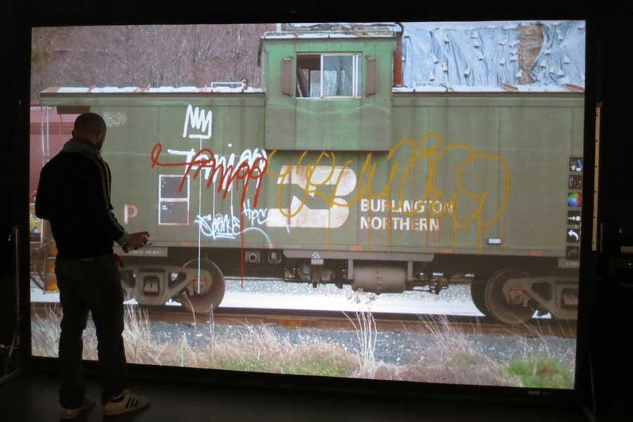 Digital street art - animation digitale pour événement - graffiti numérique