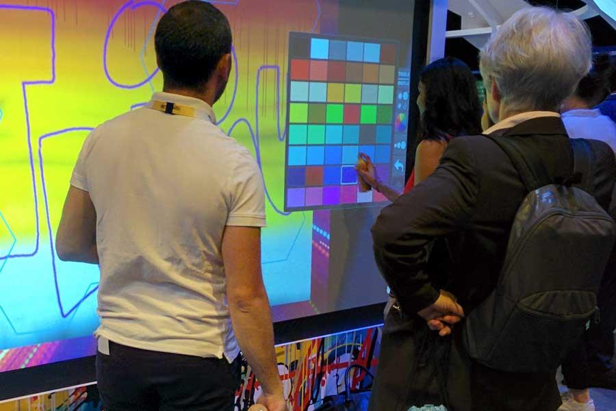 Graffiti digital - écran numérique - animation digitale pour événement