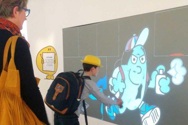 Graffiti digital jeune public - écran numérique - animation enfants