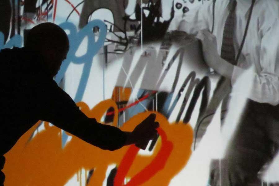 Graffiti numérique - Animation digitale pour événement - bombe de peinture numérique