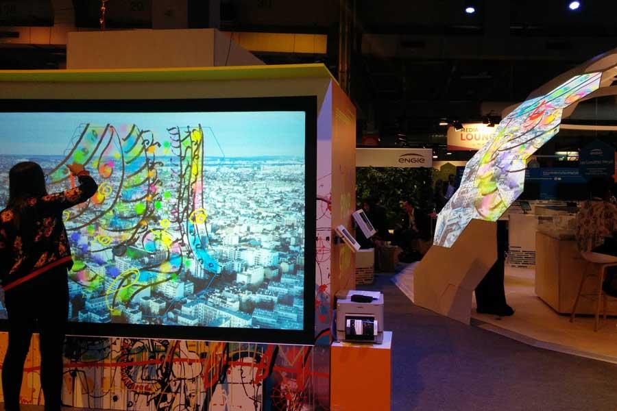 Graffiti numérique - Animation digitale pour salon professionnel