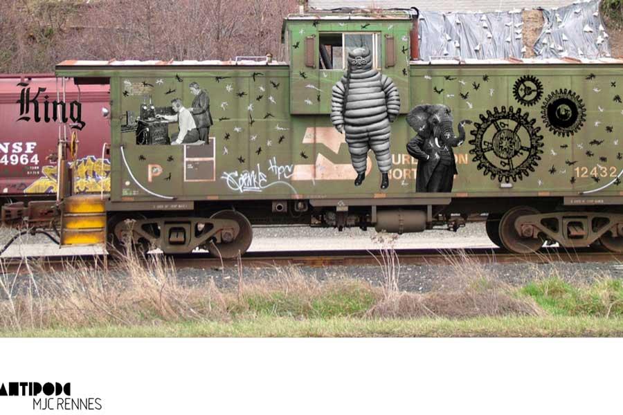 Graffiti numérique - animation digital pour événement - print écran numérique