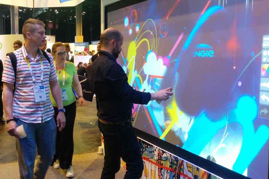 Graffiti numérique - animation digitale pour événement professionnel