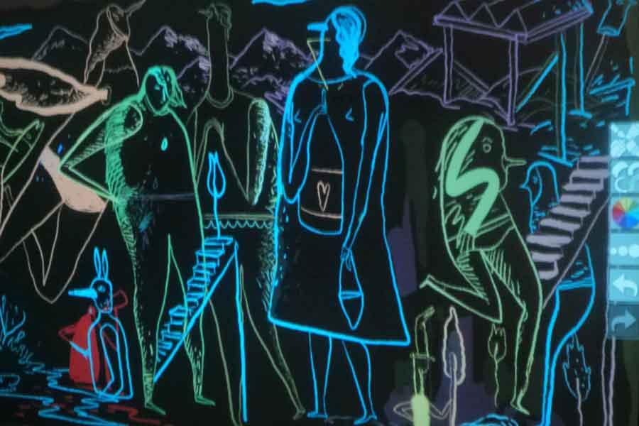 Graffiti numérique - animation digitale pour événement - Mioshe