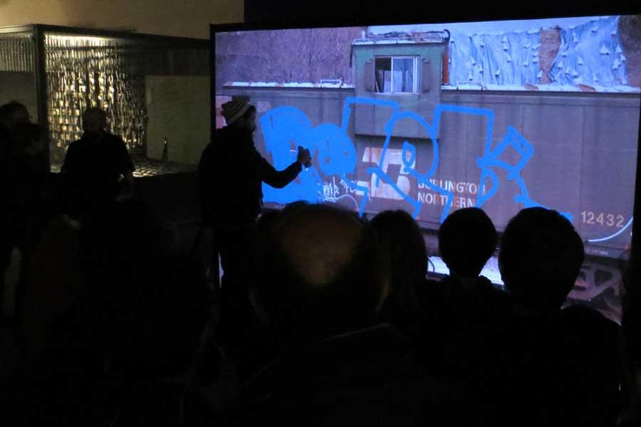Graffiti numérique - animation digitale pour événement - digital street art