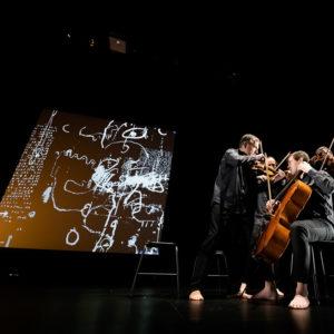 spectacle vivant - graffiti numérique - quatuor de bussy