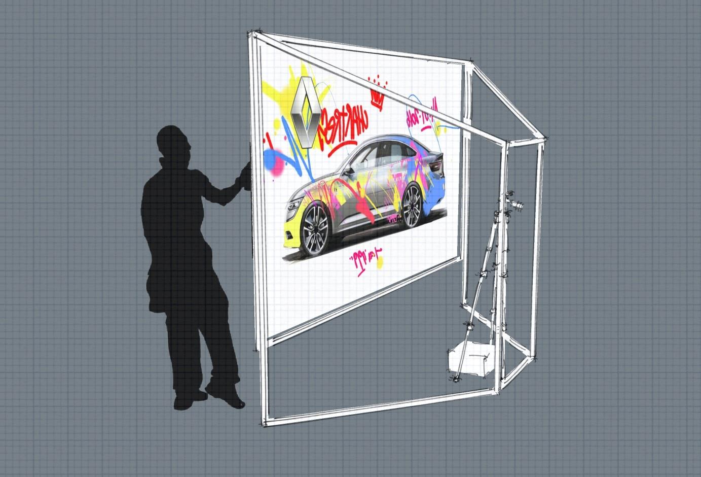 Graffiti Wall - Projection graffiti