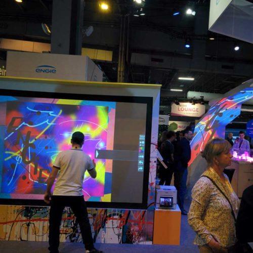 Animation innovante - Graffiti digital - Street art - Graffeur professionnel - Salon professionnel - Stand salon - Stand Engie - Salon Vivatech