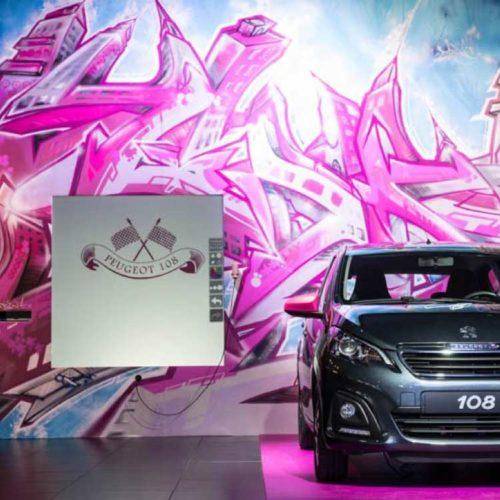 graffiti digital - Peugeot - Lancement de produit - Animation commerciale
