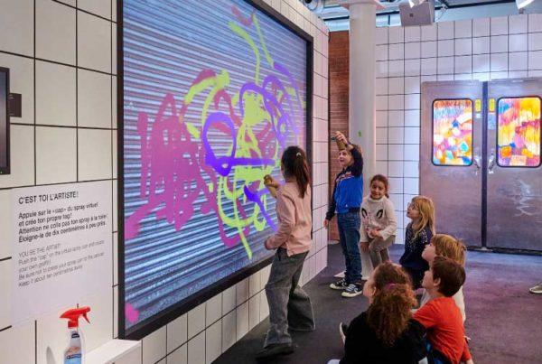 Animation graffiti digital - Expo street art - SIG Genève